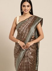 Brown Art Silk Casual Classic Designer Saree