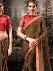 Brown Banglori Silk Classic Designer Saree