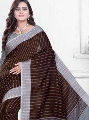 Brown Casual Printed Saree