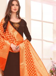 Brown Casual Salwar Suit