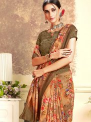 Brown Casual Silk Saree