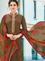 Brown Ceremonial Churidar Designer Suit