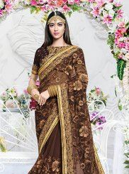 Brown Ceremonial Saree