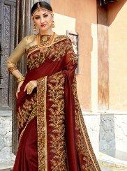 Brown Classic Designer Saree
