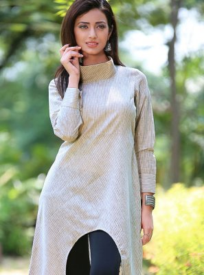 Off White Color Casual Kurti
