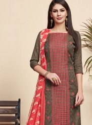 Brown Color Churidar Designer Suit