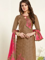 Brown Color Churidar Salwar Suit