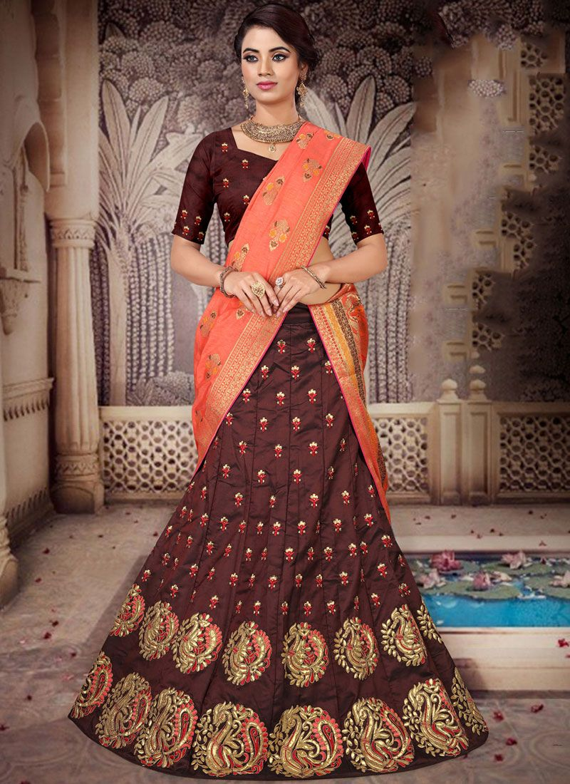 Brown Color Designer Lehenga Choli