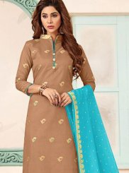 Brown Color Trendy Churidar Salwar Suit