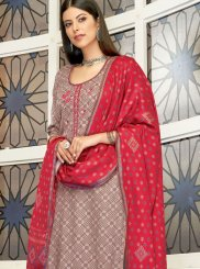 Brown Embroidered Pashmina Designer Palazzo Suit