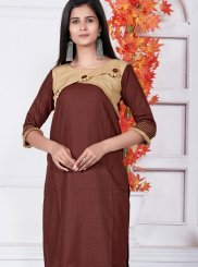 Brown Fancy Casual Kurti