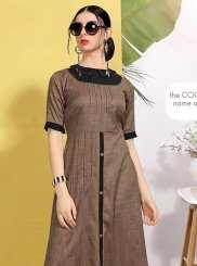 Brown Fancy Party Wear Kurti