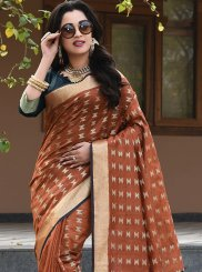 Brown Festival Designer Traditional Saree