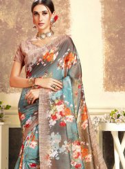 Brown Party Art Silk Trendy Saree