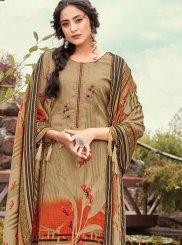 Brown Print Designer Pakistani Suit
