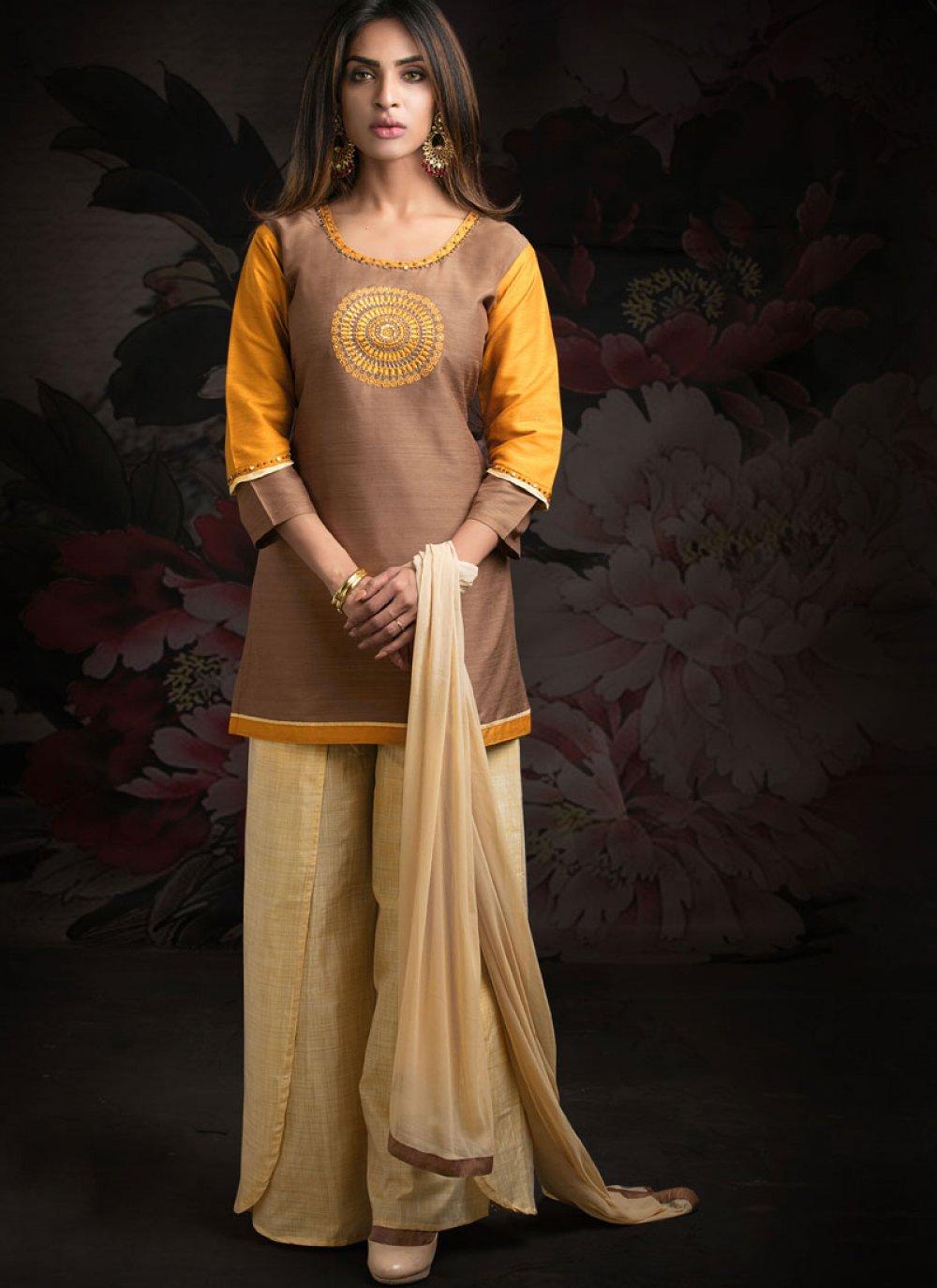 Brown Sangeet Designer Salwar Suit