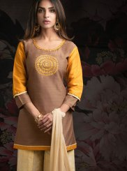 Brown Sangeet Designer Salwar Suit