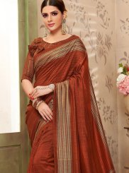 Brown Silk Casual Saree