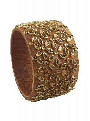 Brown Stone Work Kada Bangles