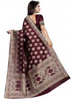 Brown Weaving Art Silk Designer Traditional Saree