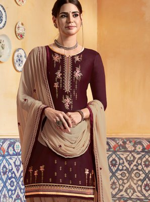 Brown Wedding Designer Patiala Suit