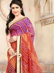 Casual Saree Embroidered Art Silk in Multi Colour