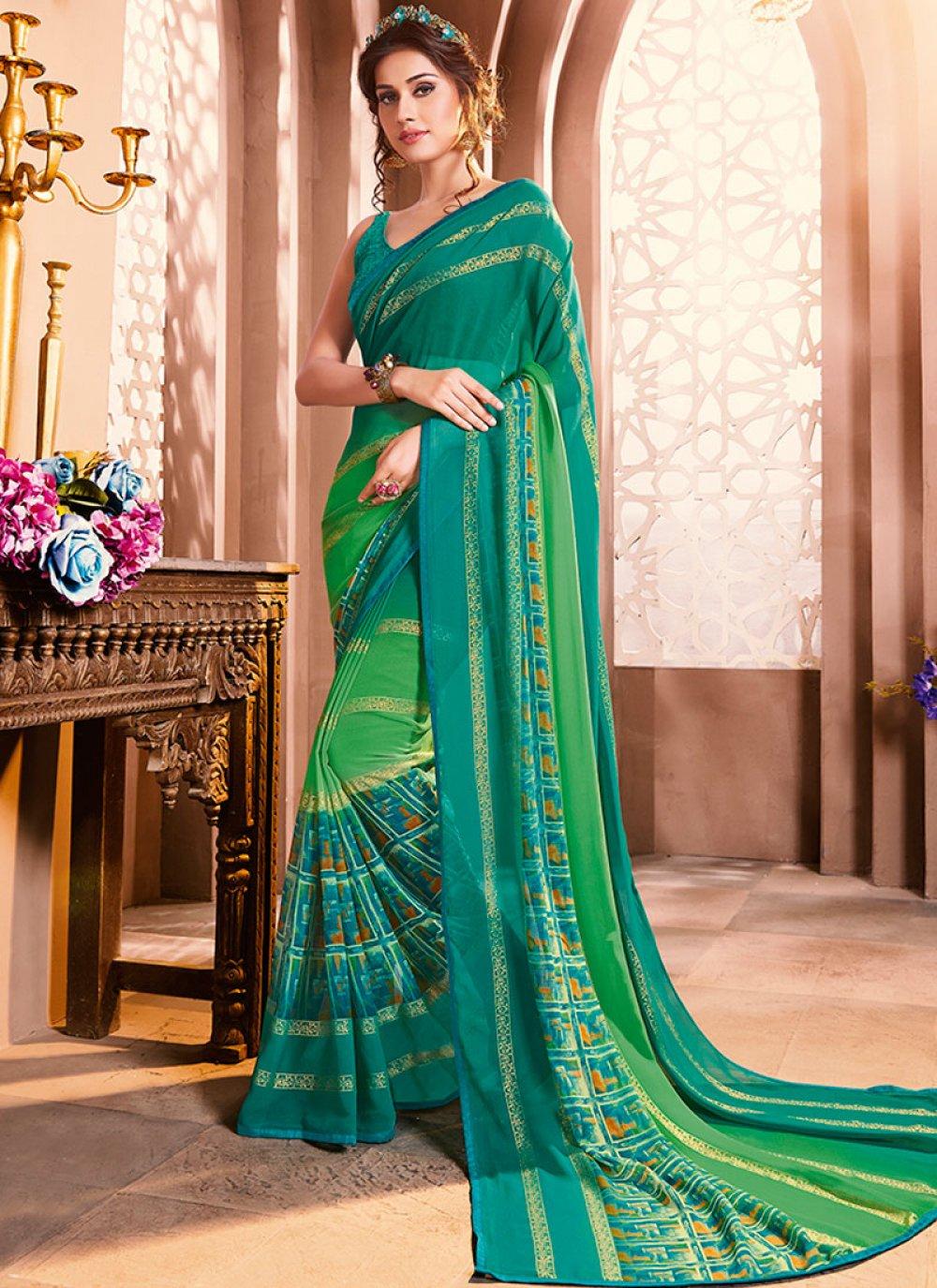 Casual Saree For Mehndi