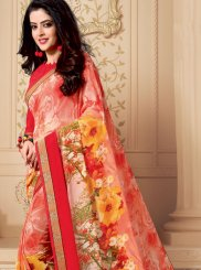 Casual Saree Patch Border Weight Less in Multi Colour