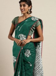 Casual Saree Weaving Art Silk in Green