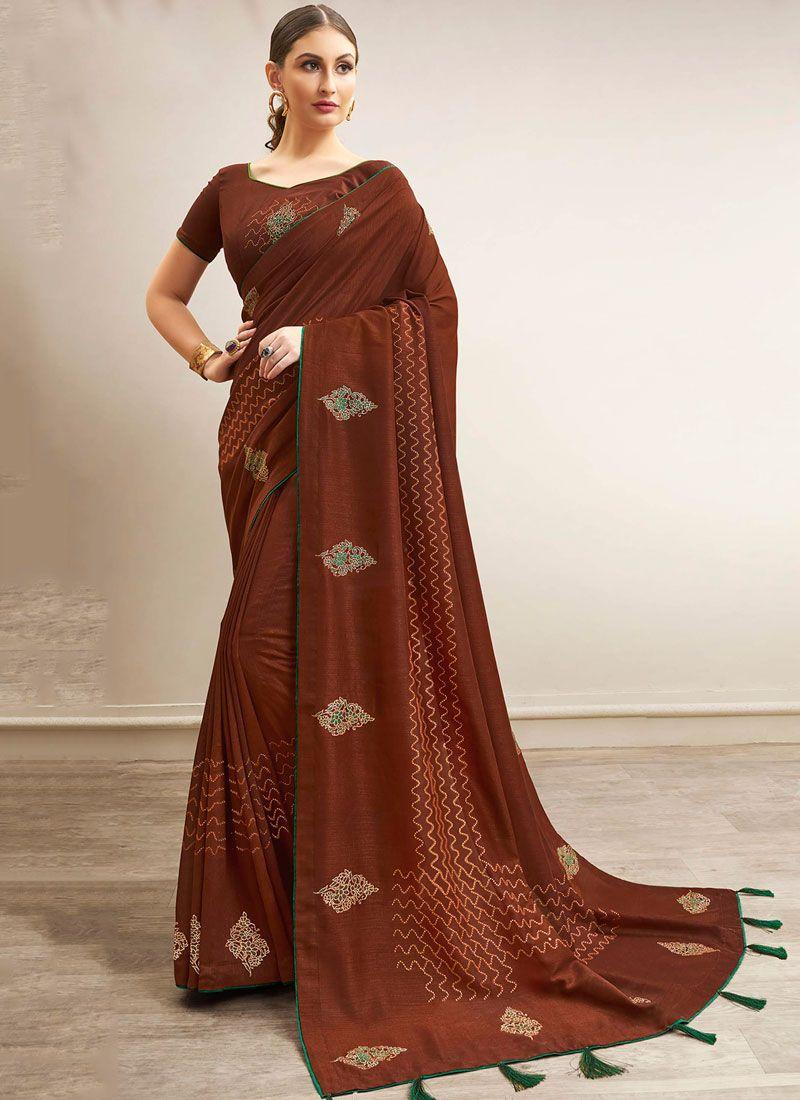 Chanderi Abstract Print Traditional Saree