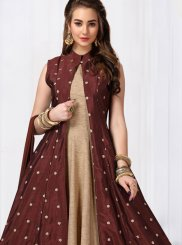 Chanderi Anarkali Salwar Suit