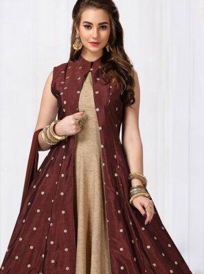 Chanderi Anarkali Salwar Suit