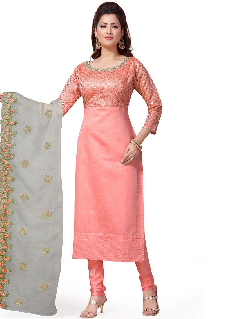 Chanderi Ceremonial Readymade Suit