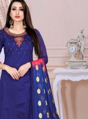 Chanderi Churidar Designer Suit