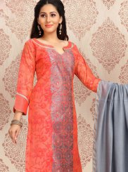 Chanderi Churidar Designer Suit in Pink