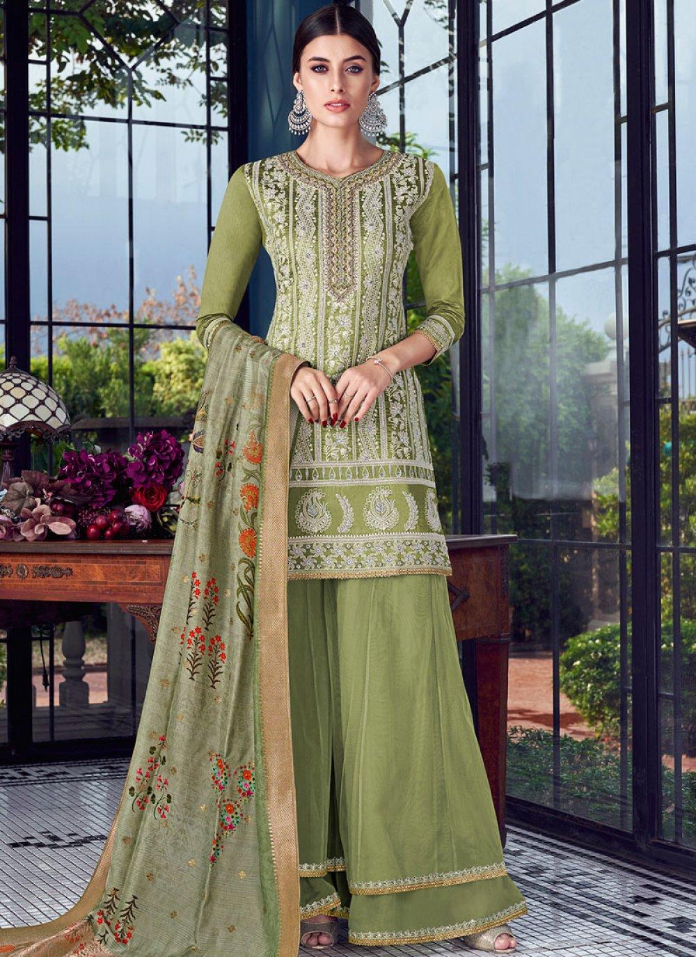 Chanderi Designer Pakistani Suit