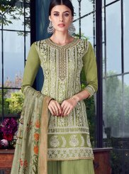 Chanderi Designer Pakistani Suit