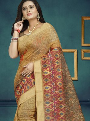 Chanderi Digital Print Multi Colour Traditional Saree