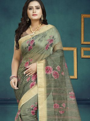 Chanderi Digital Print Trendy Saree