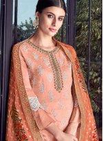 Chanderi Embroidered Designer Pakistani Suit