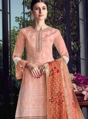 Chanderi Embroidered Designer Pakistani Suit