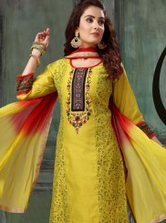 Chanderi Embroidered Readymade Suit