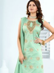 Chanderi Fancy Churidar Designer Suit