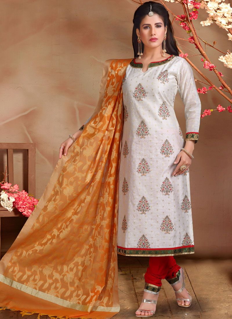 Chanderi Festival Designer Straight Suit