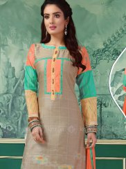 Chanderi Multi Colour Churidar Designer Suit