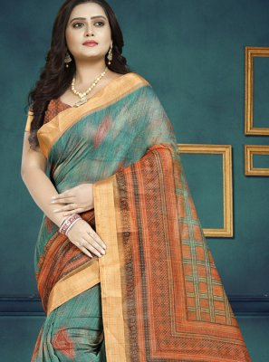 Chanderi Multi Colour Trendy Saree