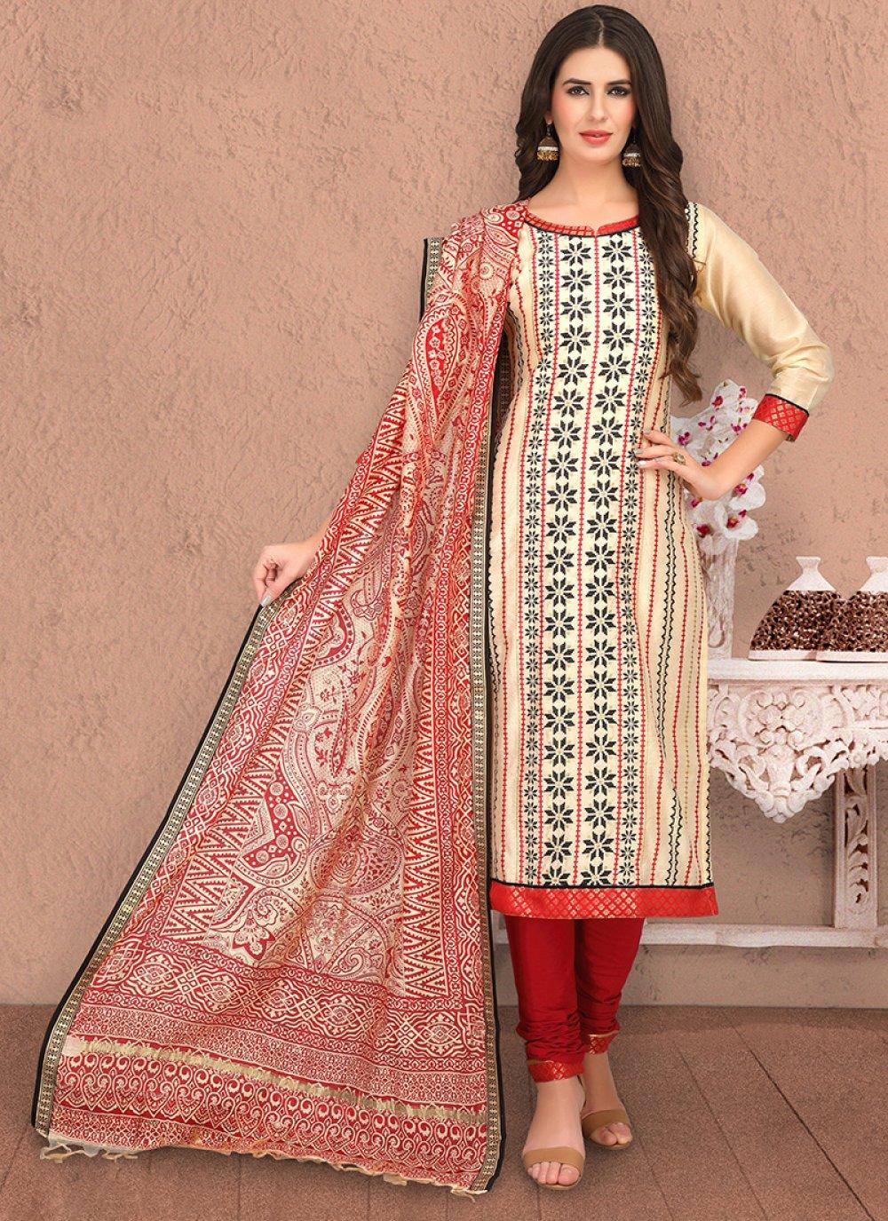 Chanderi Sangeet Salwar Suit