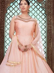 Chanderi Stone Work Designer Gown