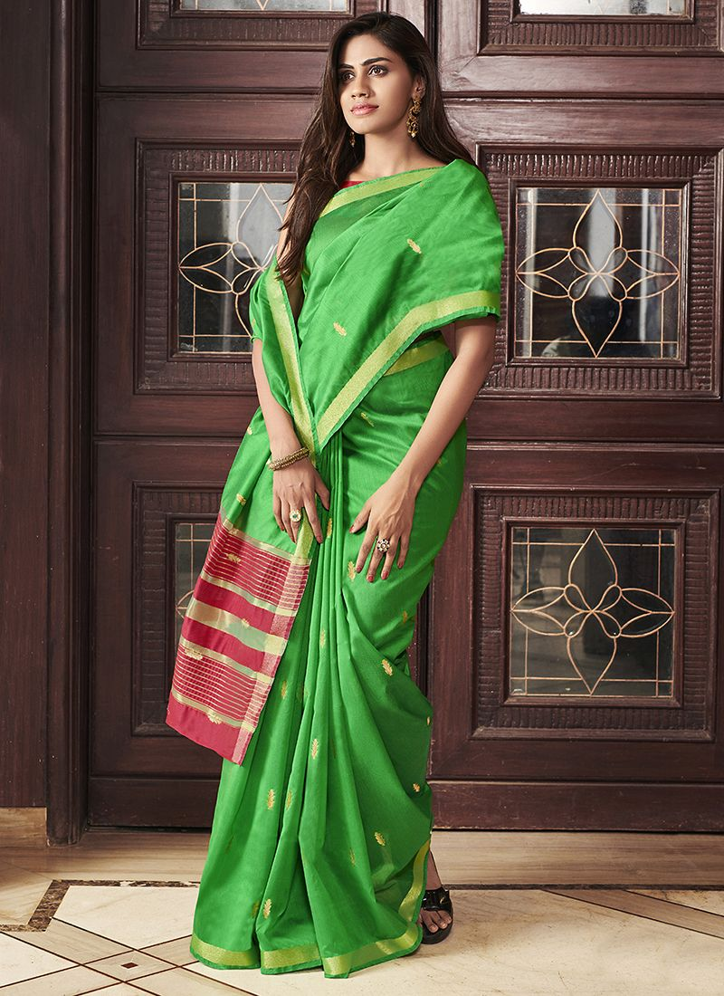 Chanderi Weaving Designer Saree