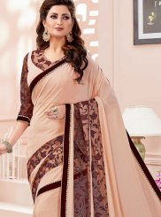 Classic Designer Saree Thread Fancy Fabric in Cream